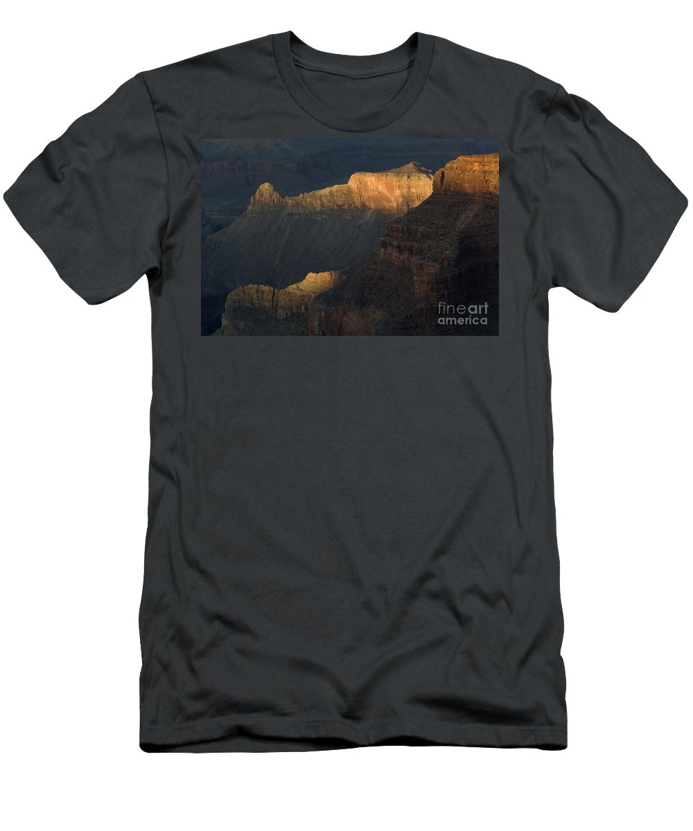 Grand Canyon Men's T-Shirt (Athletic Fit) featuring the photograph Grand Canyon Vignette 1 by Bob Christopher