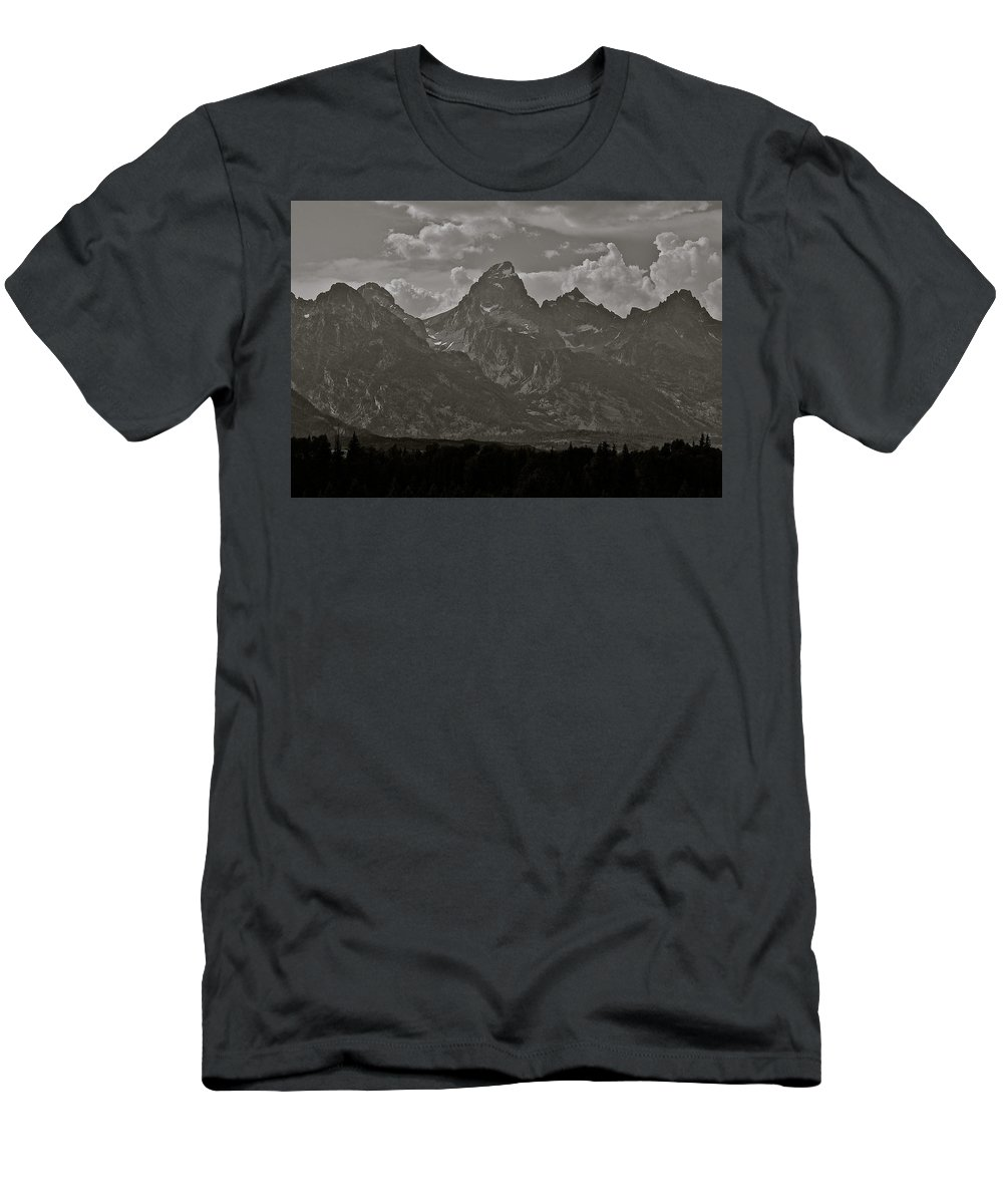 Mountains Men's T-Shirt (Athletic Fit) featuring the photograph Grand Tetons by Eric Tressler