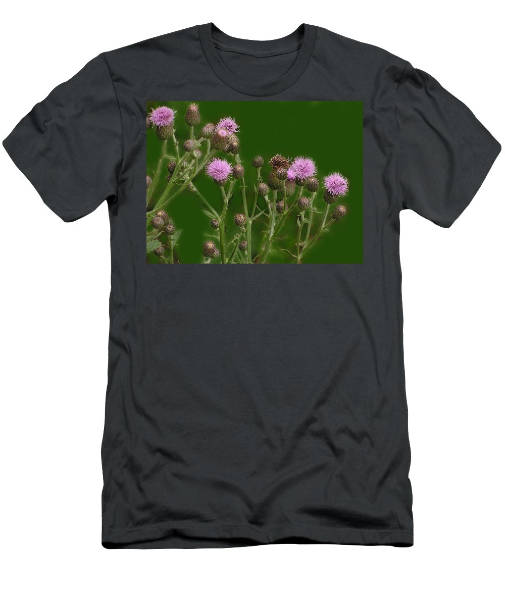 Flower T-Shirt featuring the photograph Green And Purple by Ian MacDonald