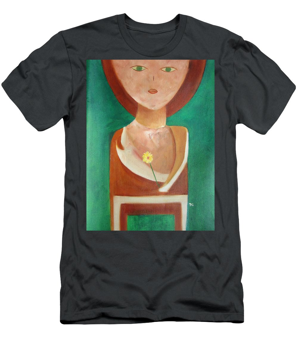Original T-Shirt featuring the painting Green Eyes by Patricia Cleasby