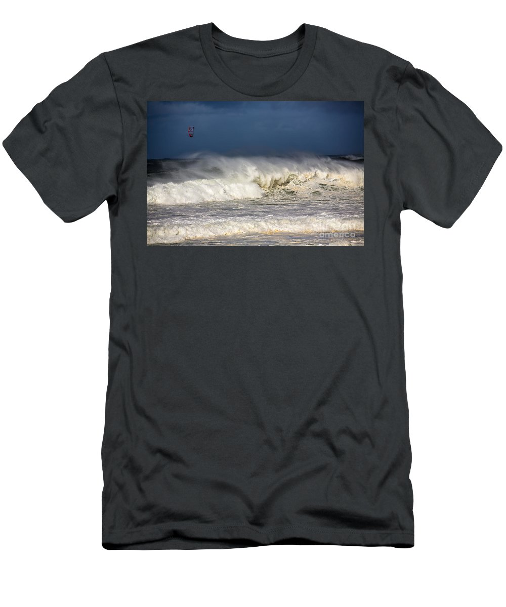 Kite Surfer T-Shirt featuring the photograph Hanging in there by Sheila Smart Fine Art Photography