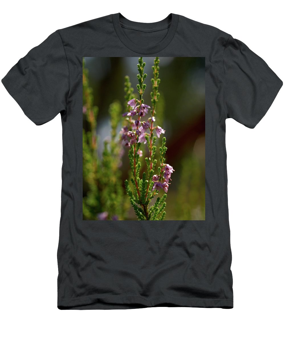 Jouko Lehto Men's T-Shirt (Athletic Fit) featuring the photograph Heather by Jouko Lehto