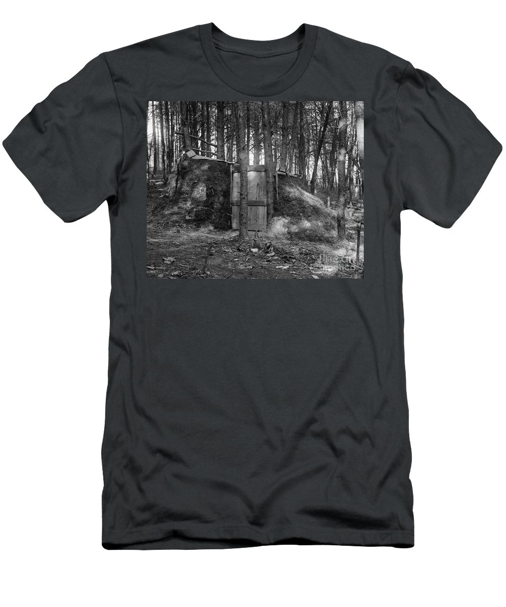 1922 Men's T-Shirt (Athletic Fit) featuring the photograph Hermits Hut, 1922 by Granger