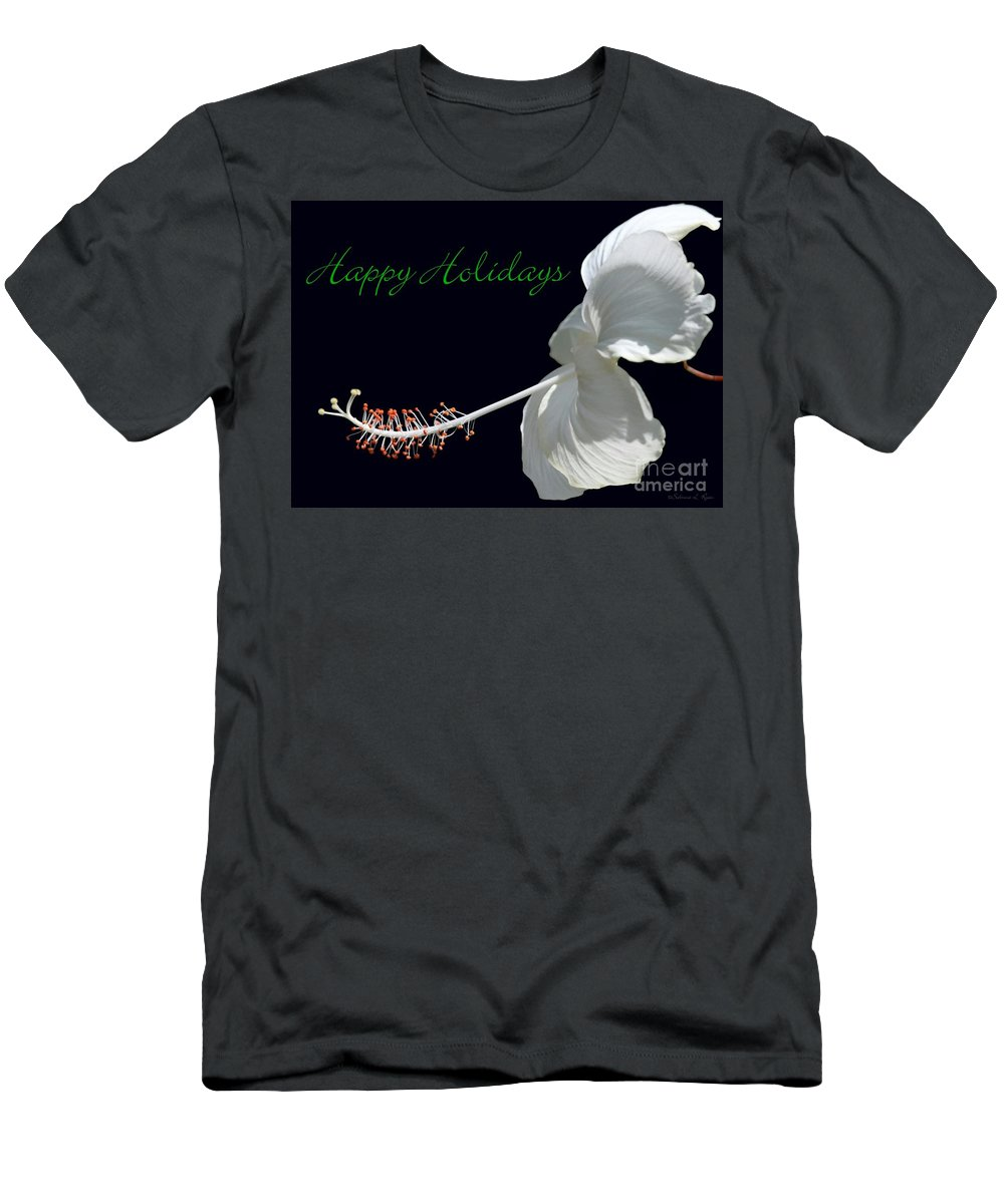 Holiday Men's T-Shirt (Athletic Fit) featuring the photograph Hibiscus Holiday Card by Sabrina L Ryan