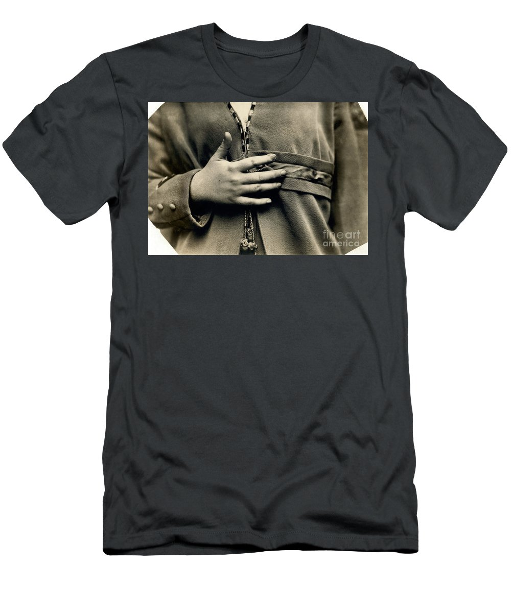 1916 Men's T-Shirt (Athletic Fit) featuring the photograph Hine: Child Labor, 1916 by Granger