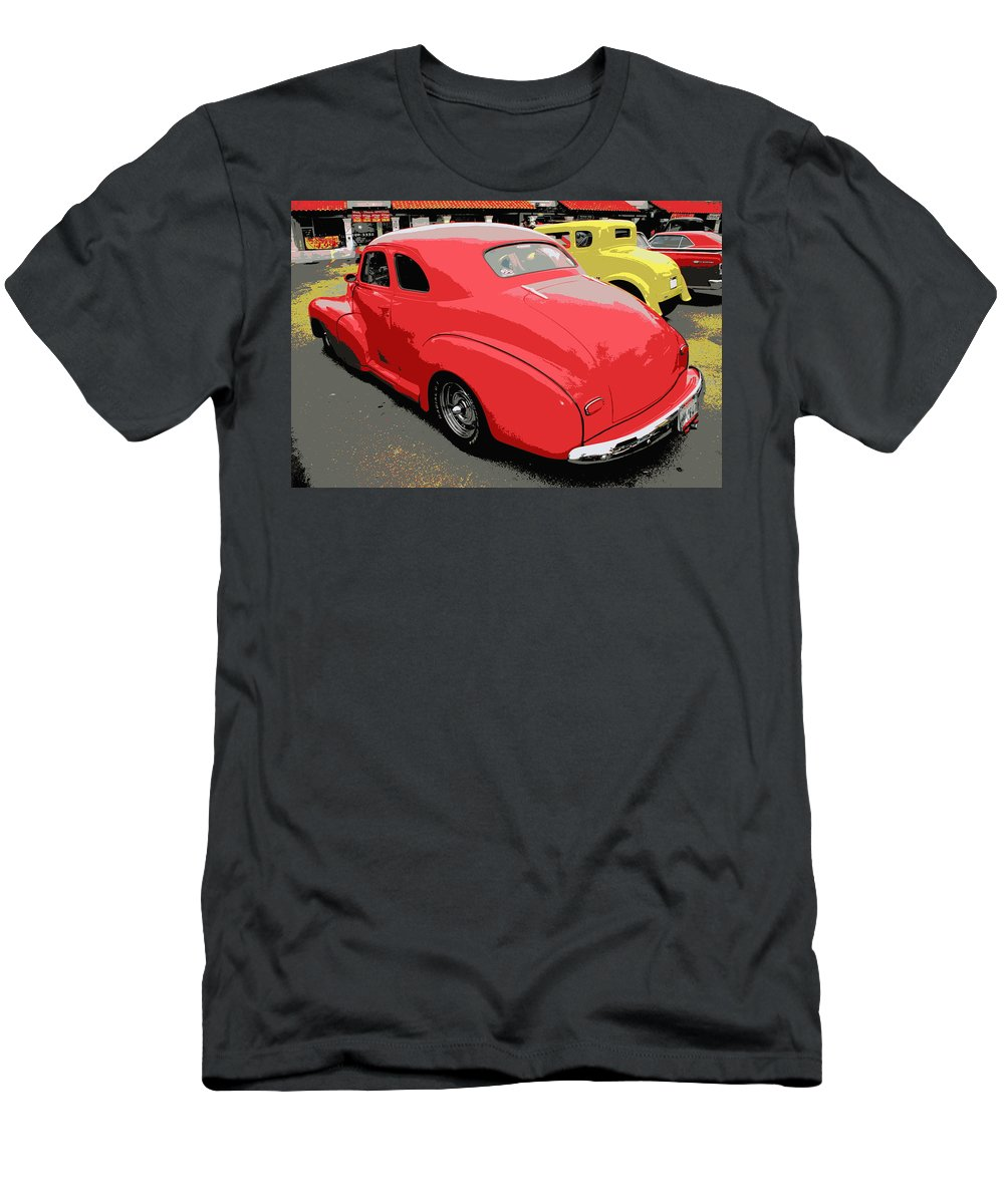 Car Men's T-Shirt (Athletic Fit) featuring the photograph Hot Rod Car Show by Randall Thomas Stone