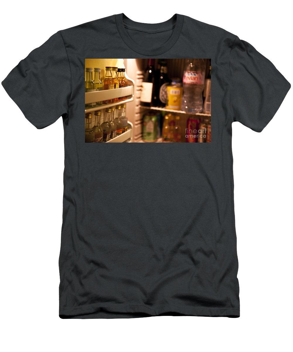Alcohol Men's T-Shirt (Athletic Fit) featuring the photograph Hotel Mini-bar by John Greim