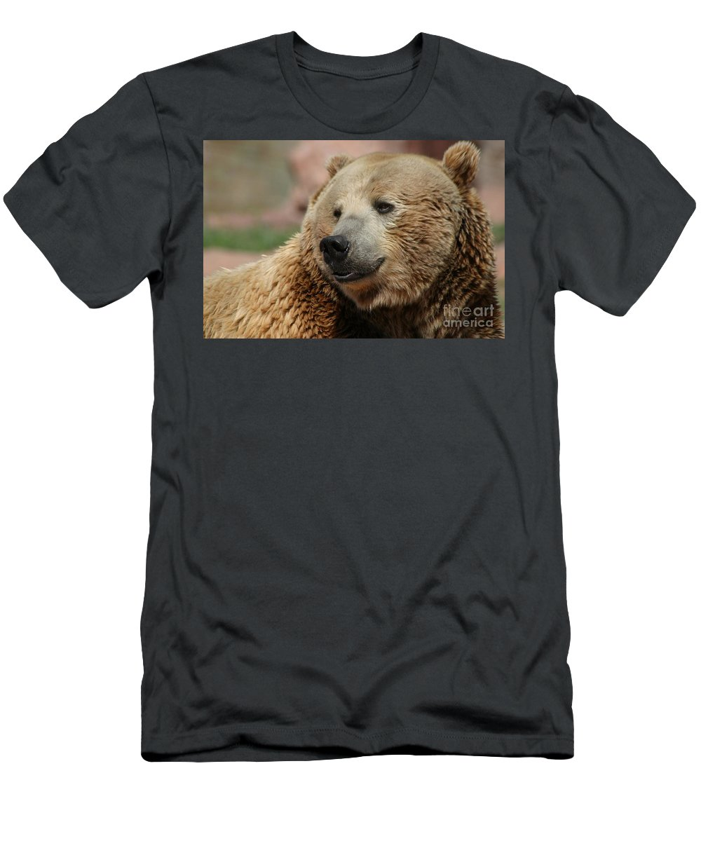Bear Men's T-Shirt (Athletic Fit) featuring the photograph I Am Smiling by Living Color Photography Lorraine Lynch