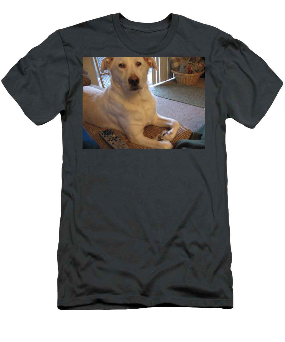Dog Men's T-Shirt (Athletic Fit) featuring the photograph I Heart You by Amy Hosp