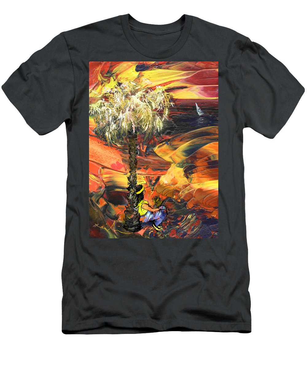 Dream Men's T-Shirt (Athletic Fit) featuring the painting I Wish I Were There by Miki De Goodaboom