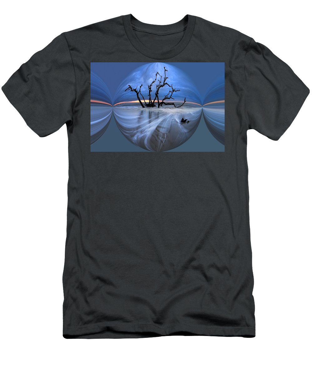 Clouds Men's T-Shirt (Athletic Fit) featuring the photograph I Would Go To The Ends Of The Earth For You by Debra and Dave Vanderlaan