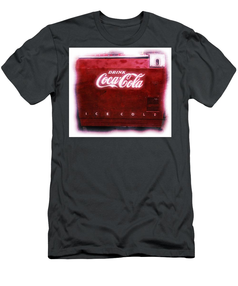 Soda Men's T-Shirt (Athletic Fit) featuring the photograph Ice Cold Coca Cola by Heidi Smith