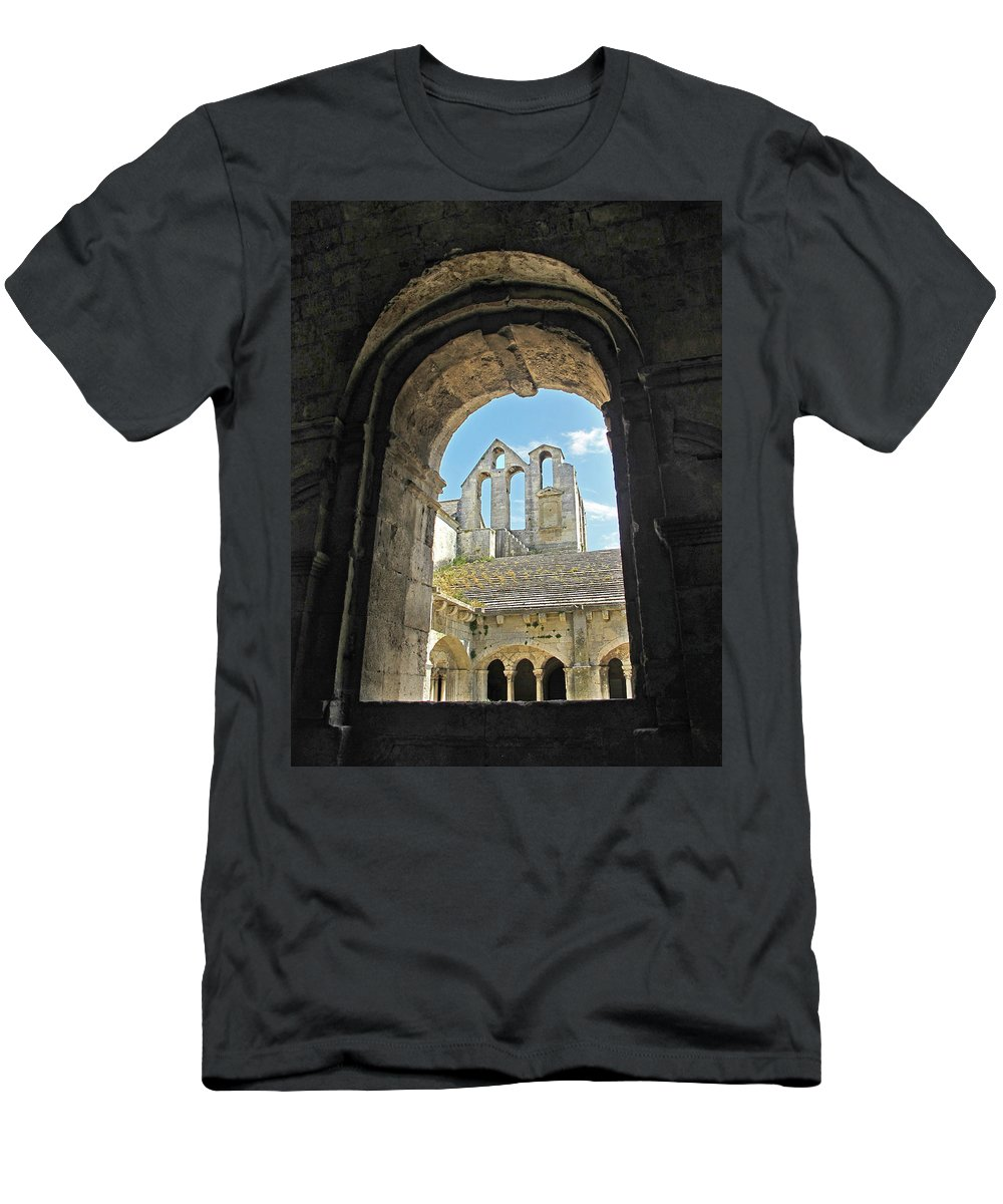 Monastery Men's T-Shirt (Athletic Fit) featuring the photograph In A Monastery by Dave Mills