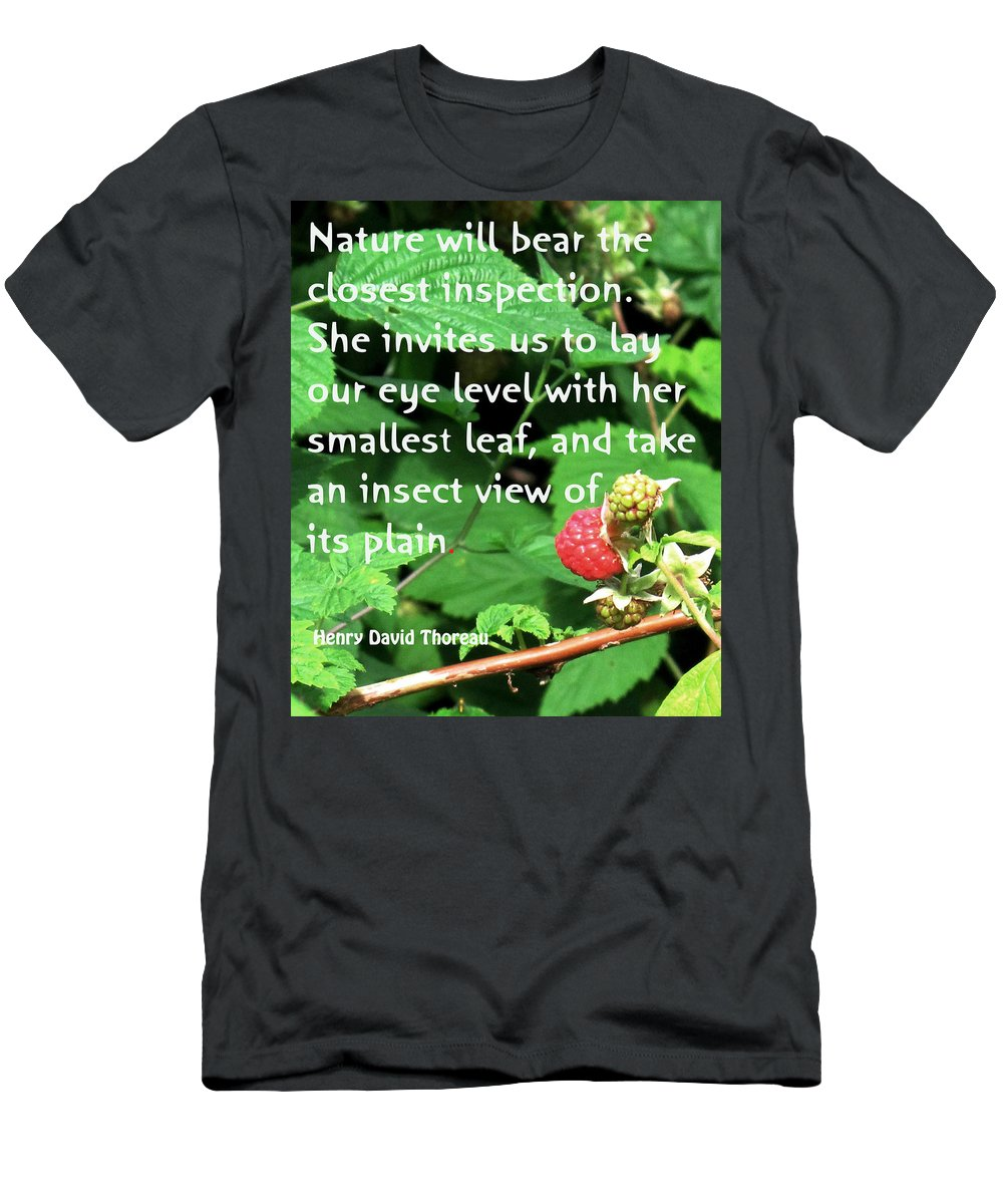 Rasberry Men's T-Shirt (Athletic Fit) featuring the photograph Insect View by Ian MacDonald
