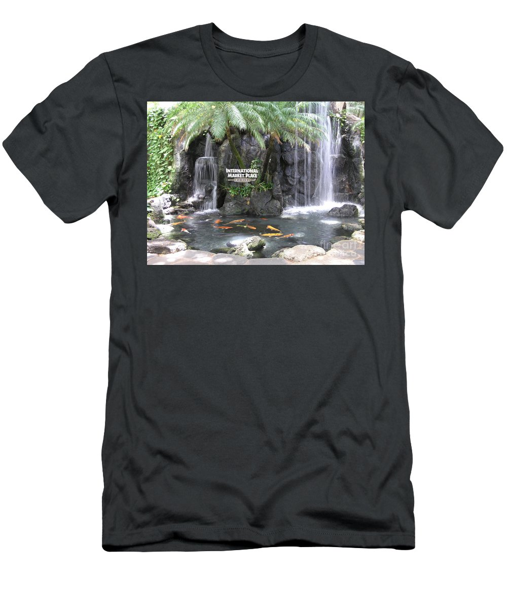 Honolulu Men's T-Shirt (Athletic Fit) featuring the photograph International Marketplace - Waikiki by Mary Deal