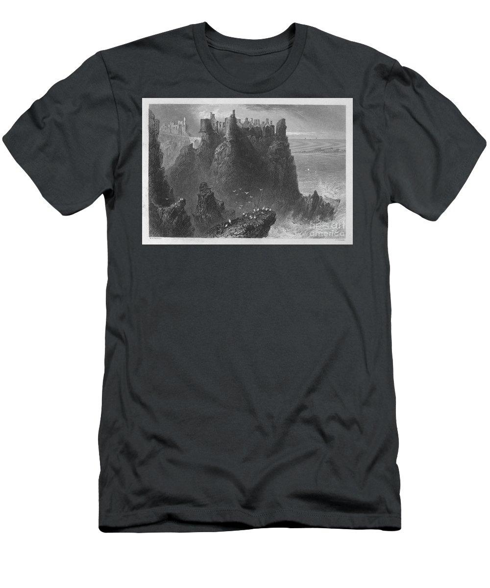 1840 Men's T-Shirt (Athletic Fit) featuring the photograph Ireland: Dunluce Castle by Granger