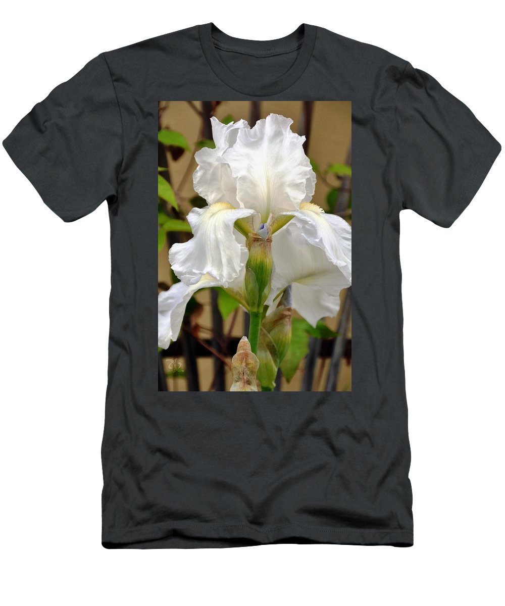 Garden Men's T-Shirt (Athletic Fit) featuring the photograph Iridescent Iris by Angelina Vick