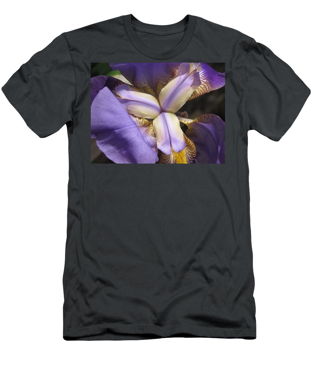Yellow Men's T-Shirt (Athletic Fit) featuring the photograph Iris Smiles by Michele Nelson
