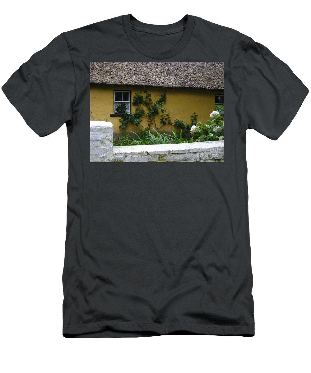 Ireland Men's T-Shirt (Athletic Fit) featuring the photograph Irish Cottage by Bonnie Myszka