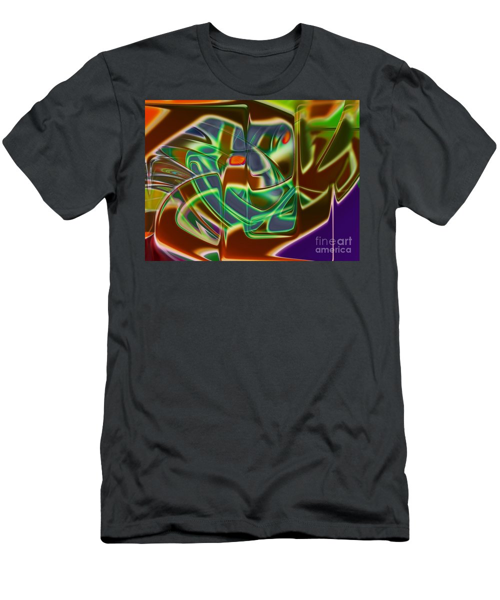 Mask Men's T-Shirt (Athletic Fit) featuring the digital art Iron Mask by Tom Hubbard