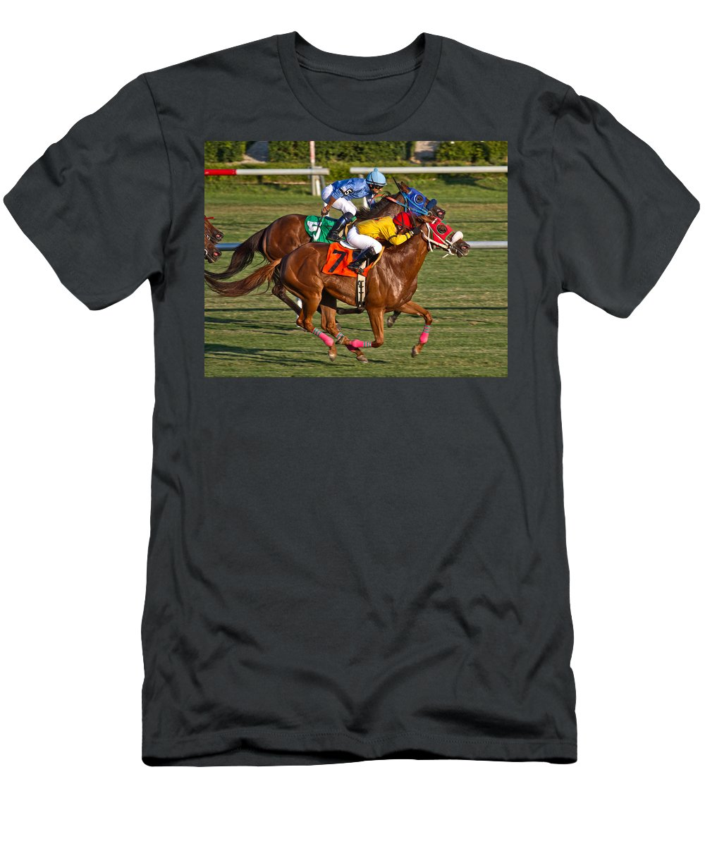 Horse Men's T-Shirt (Athletic Fit) featuring the photograph It Takes Talent by Betsy Knapp