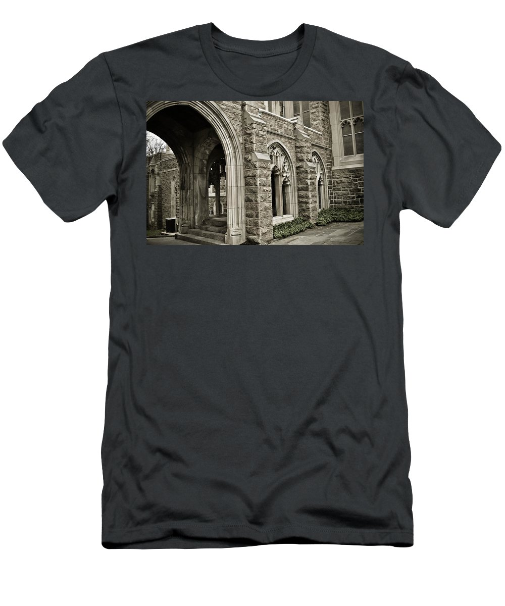 Valley Forge Men's T-Shirt (Athletic Fit) featuring the photograph It's A Maze At Valley Forge by Trish Tritz
