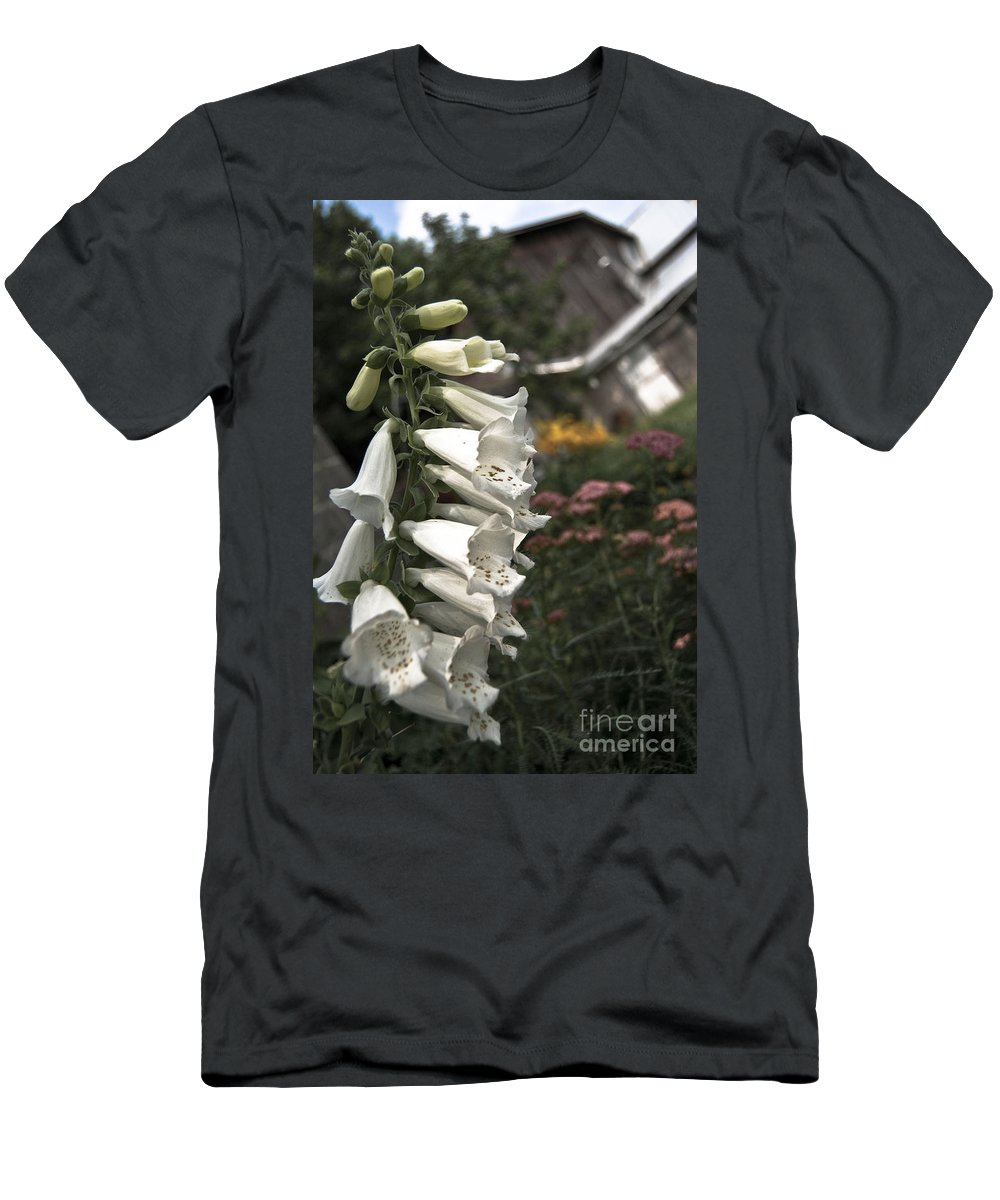 Agriculture Men's T-Shirt (Athletic Fit) featuring the digital art Ivory Foxglove by Danielle Summa