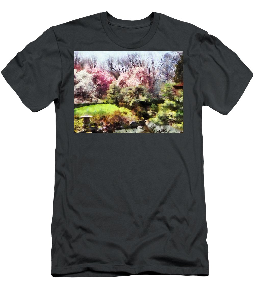 Japanese Garden Men's T-Shirt (Athletic Fit) featuring the photograph Japanese Spring by Susan Savad