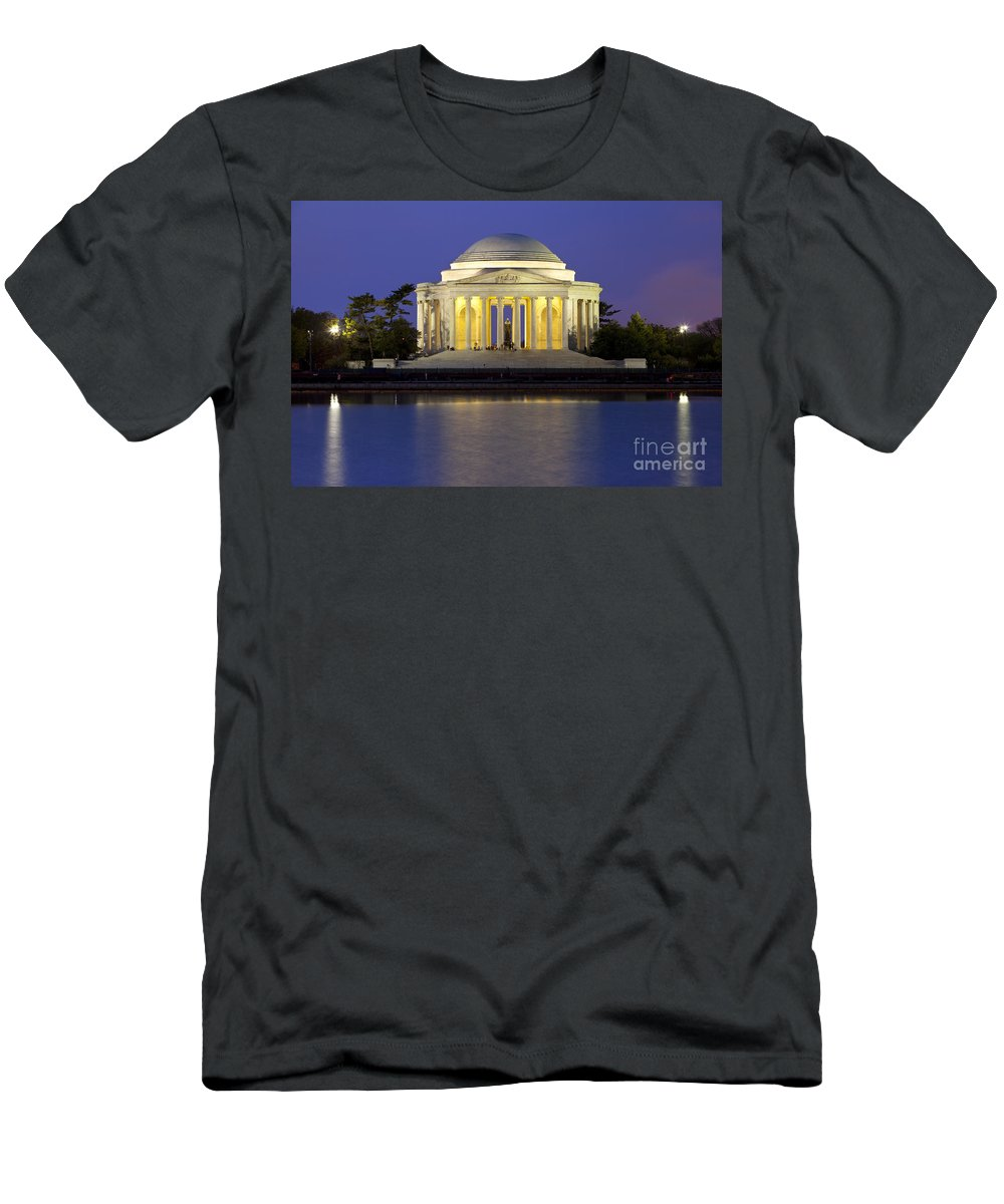 Thomas Jefferson Men's T-Shirt (Athletic Fit) featuring the photograph Jefferson Memorial by Brian Jannsen