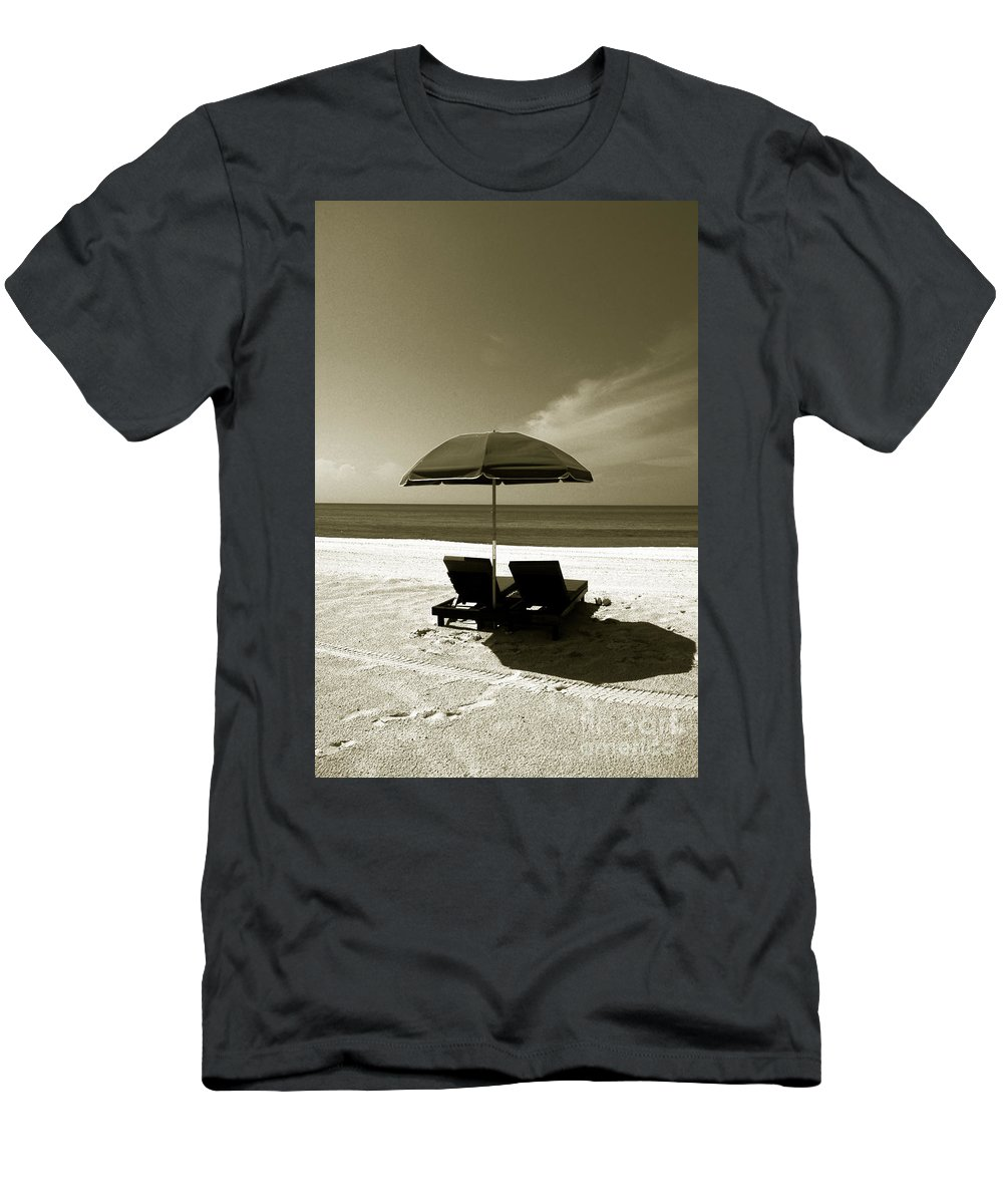 Beach Men's T-Shirt (Athletic Fit) featuring the photograph Just You And Me by Susanne Van Hulst