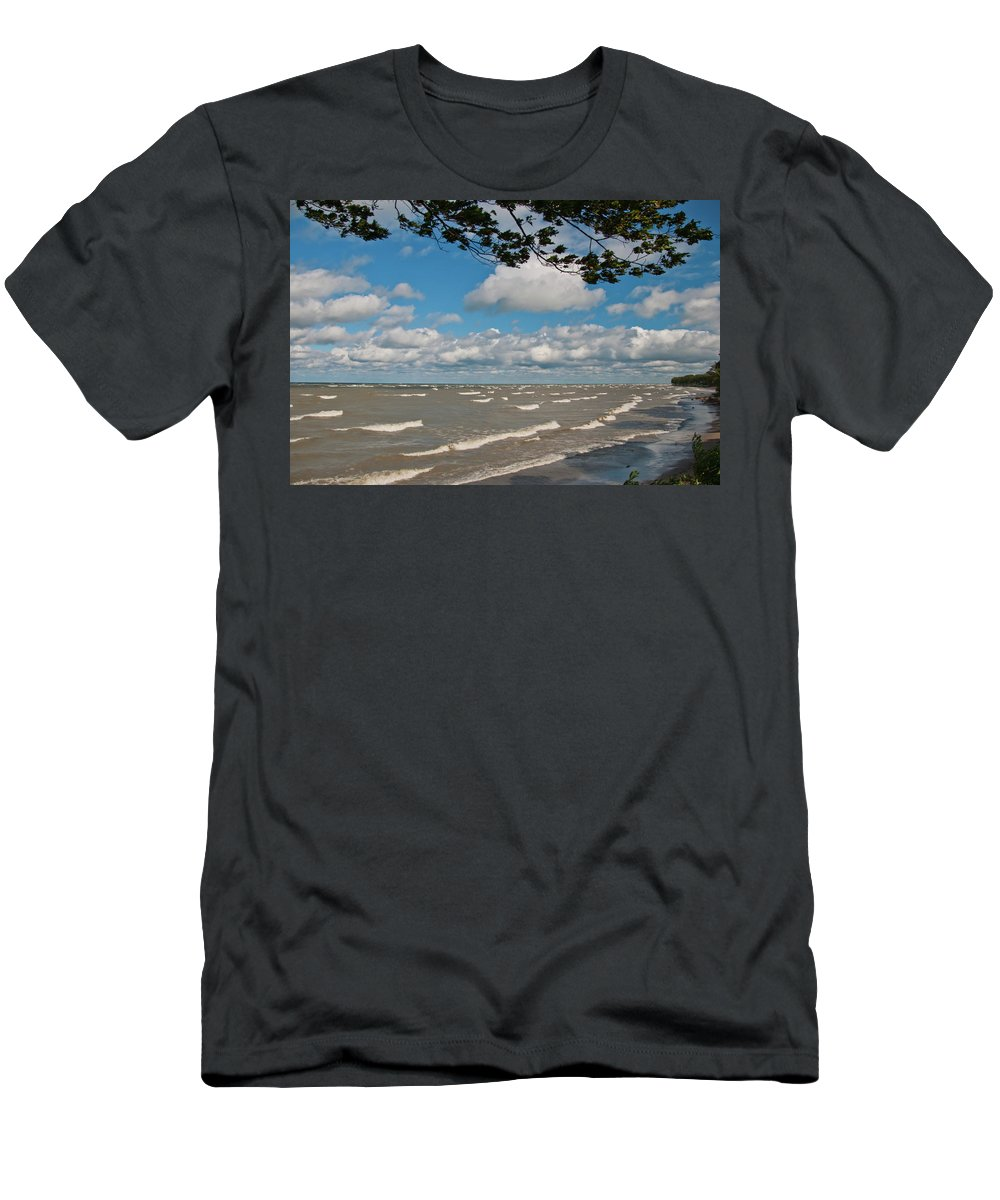 Men's T-Shirt (Athletic Fit) featuring the photograph Lake Erie Storm 2371 by Guy Whiteley