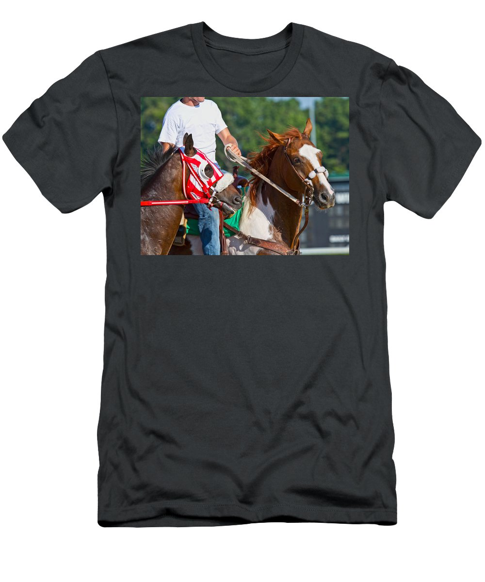 Post Men's T-Shirt (Athletic Fit) featuring the photograph Leading The Way by Betsy Knapp