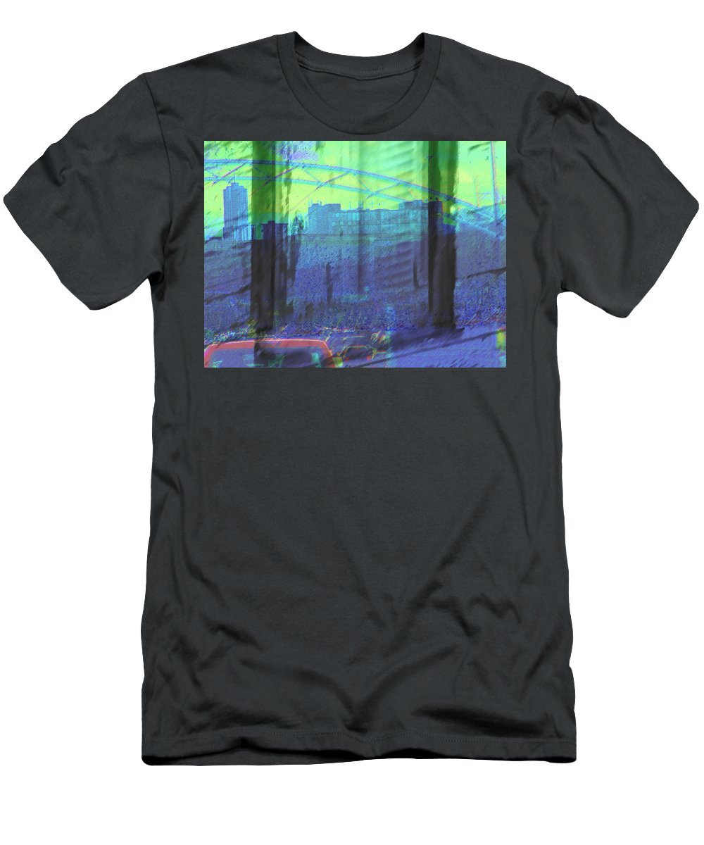 Abstract Men's T-Shirt (Athletic Fit) featuring the photograph Leaving The Country For The City by Lenore Senior