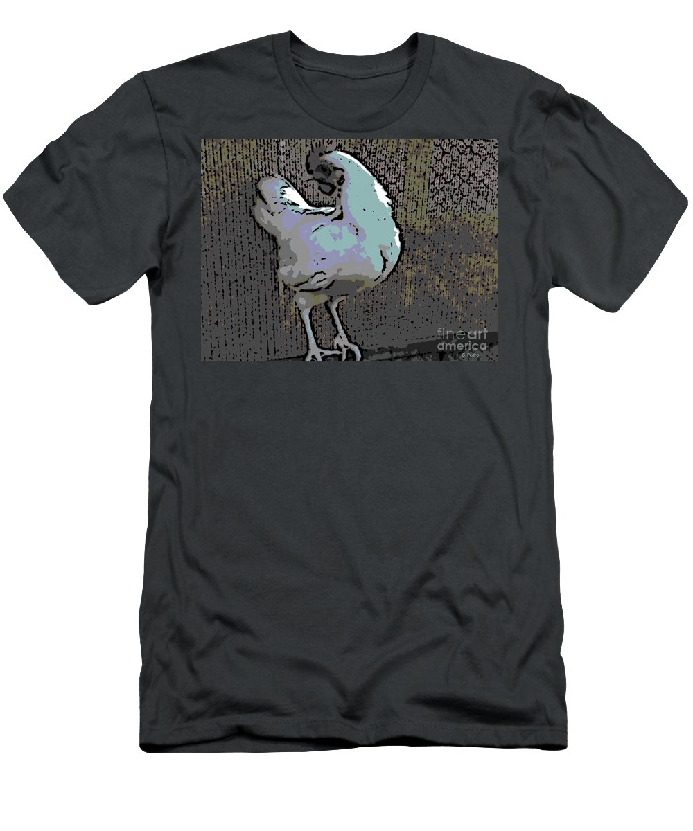 Leghorn Men's T-Shirt (Athletic Fit) featuring the photograph Leghorn by George Pedro