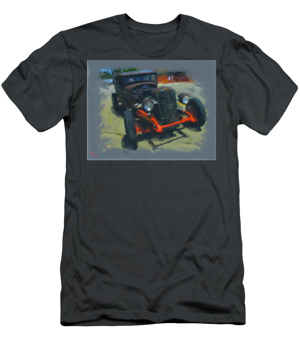 Car Men's T-Shirt (Athletic Fit) featuring the mixed media Let's Ride by Adam Vance