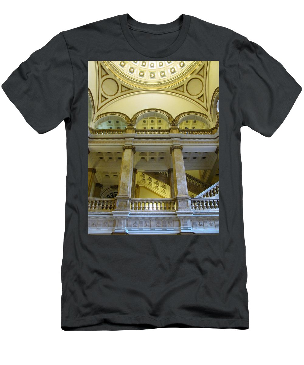Milwaukee Men's T-Shirt (Athletic Fit) featuring the photograph Library 4 by Anita Burgermeister