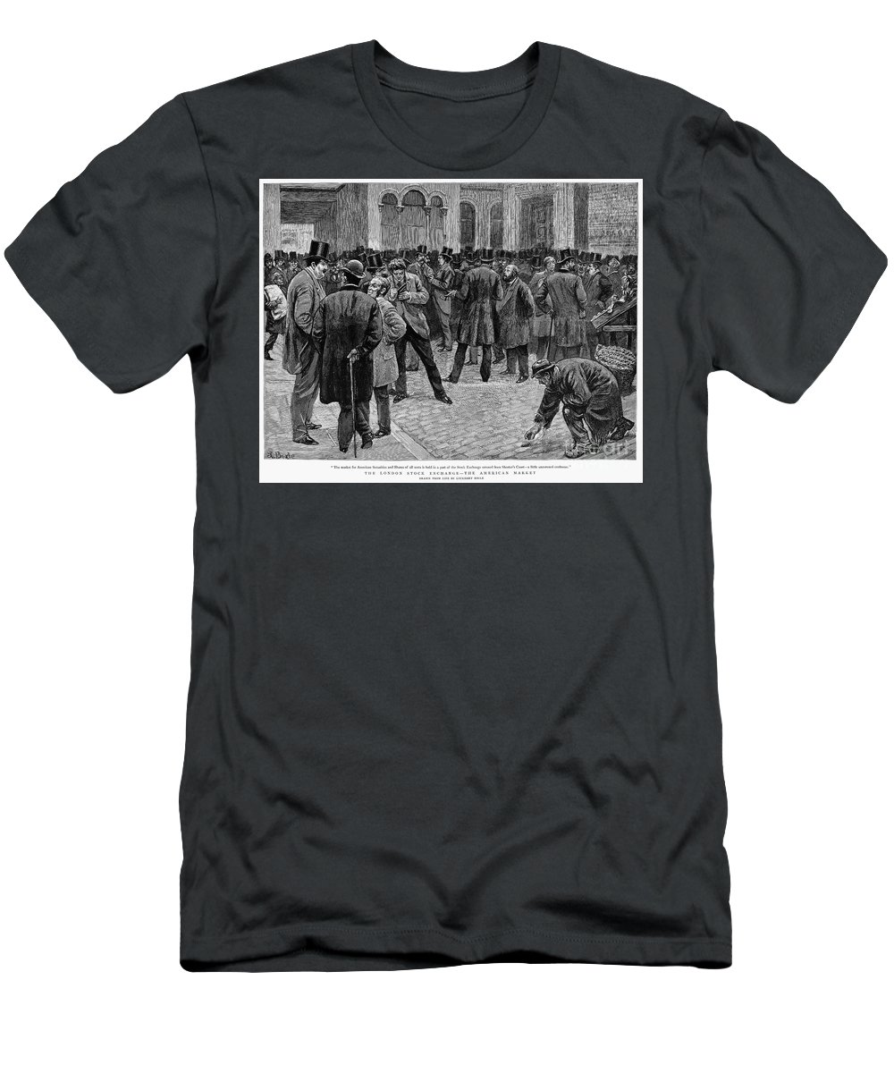 1891 Men's T-Shirt (Athletic Fit) featuring the photograph London Stock Exchange by Granger