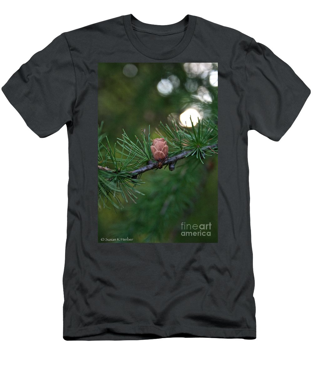 Plant Men's T-Shirt (Athletic Fit) featuring the photograph Lone Cone by Susan Herber