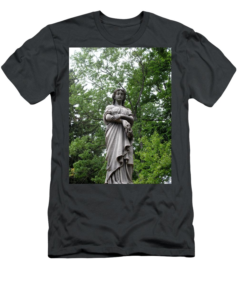 Lady Men's T-Shirt (Athletic Fit) featuring the photograph Looking Down by Michele Nelson