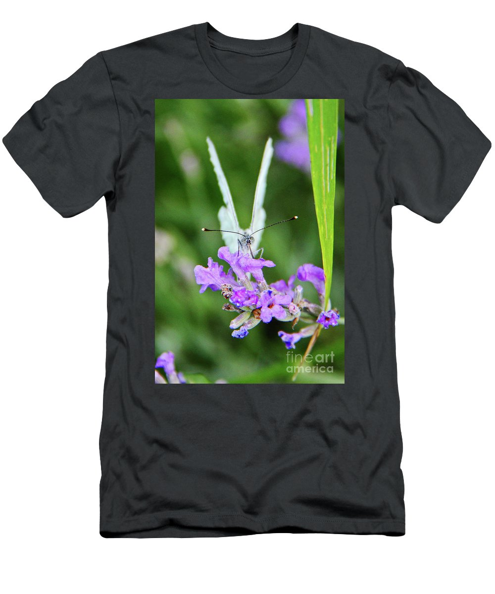 Looking Men's T-Shirt (Athletic Fit) featuring the photograph Looking Into Butterfly Eyes by Mariola Bitner