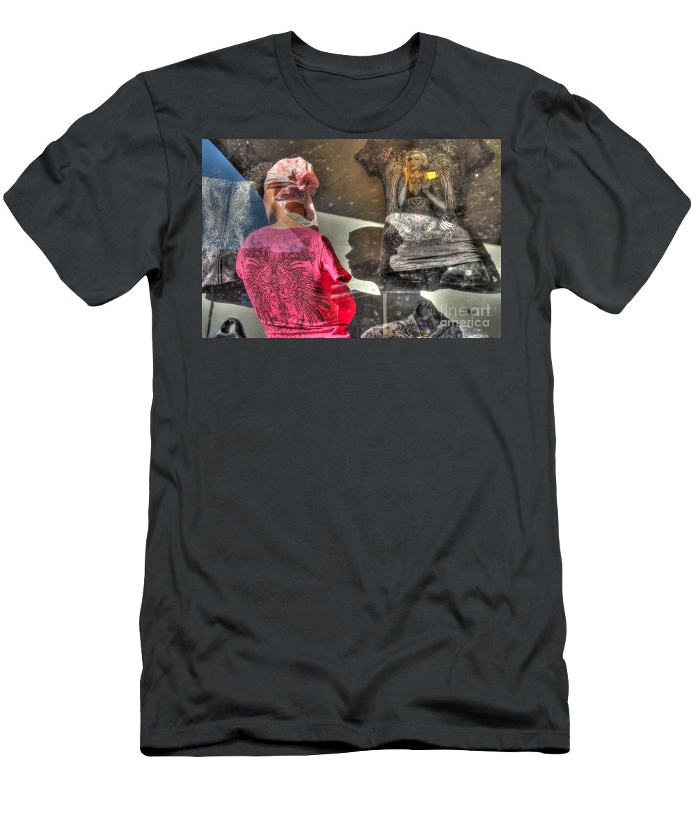 Reflections Men's T-Shirt (Athletic Fit) featuring the photograph Marilyn's Shadow by Anthony Wilkening