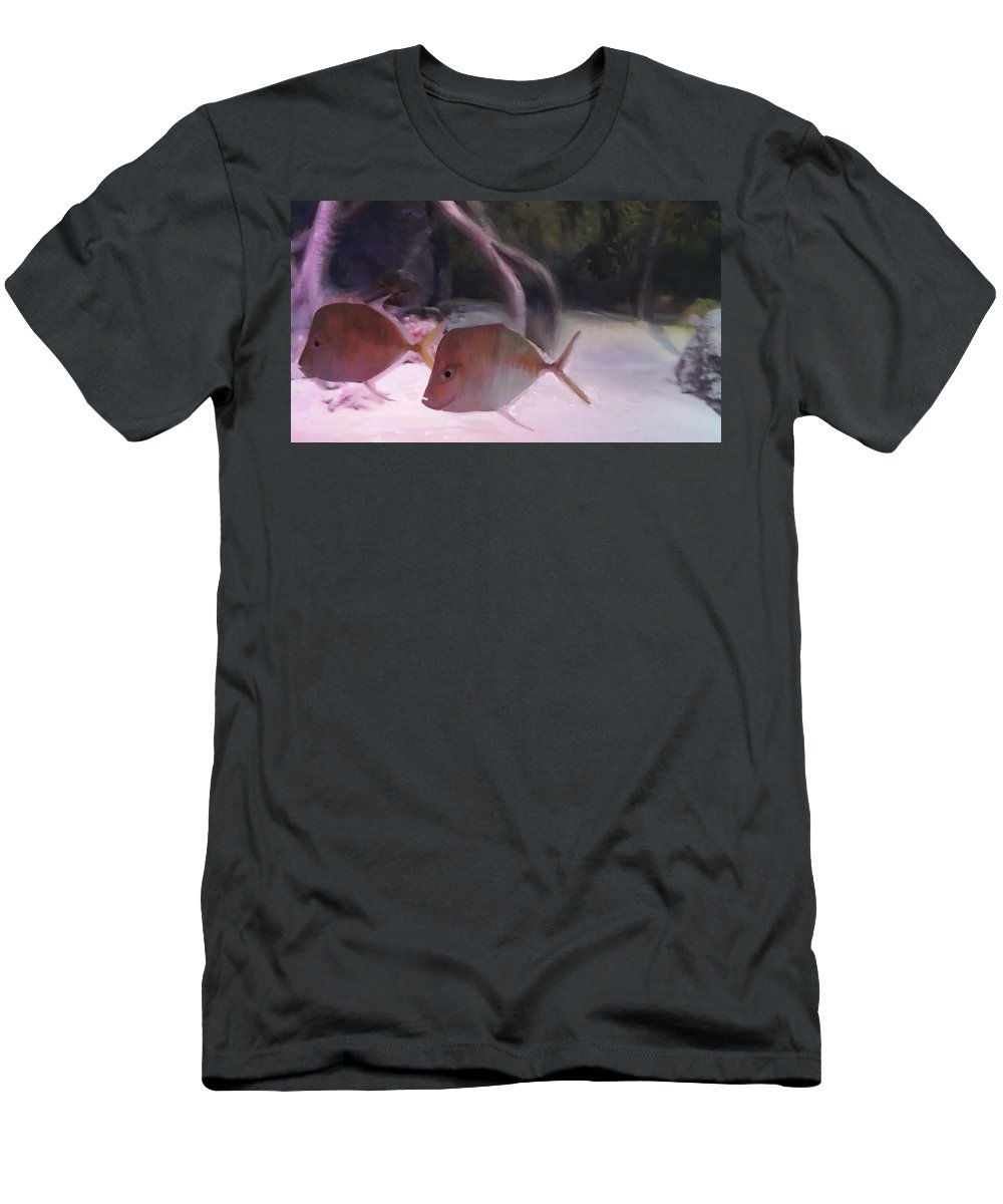 Marine Life Men's T-Shirt (Athletic Fit) featuring the painting Marine Life by Usha Shantharam
