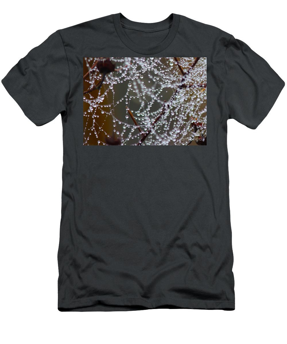 Spider Web Men's T-Shirt (Athletic Fit) featuring the photograph Marsh Globes by Carol Groenen