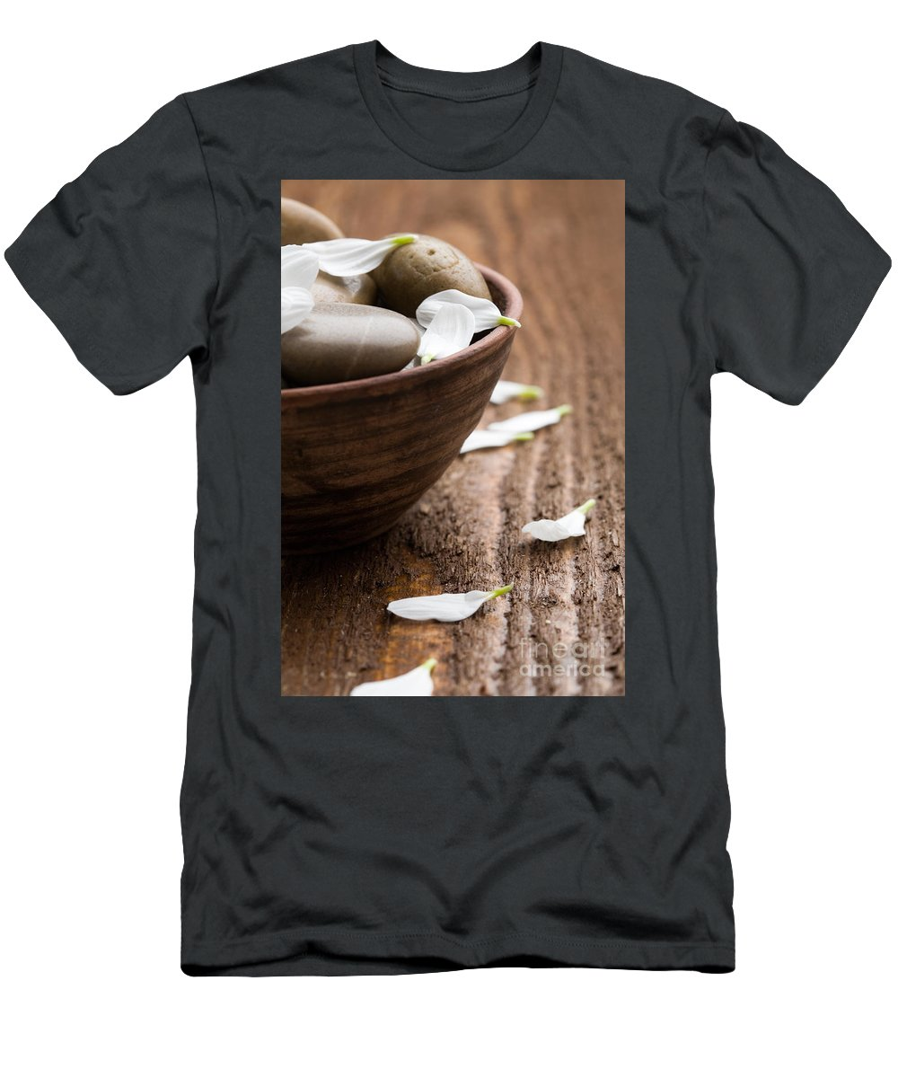 Stone Men's T-Shirt (Athletic Fit) featuring the photograph Massage Stones by Kati Finell