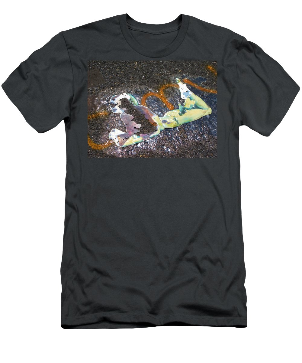 Graffitti Men's T-Shirt (Athletic Fit) featuring the photograph Melted Pin Up Girl by Michele Nelson