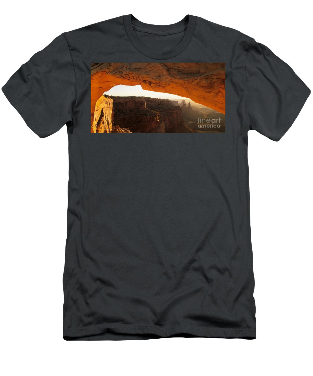 Utah Men's T-Shirt (Athletic Fit) featuring the photograph Mesa Arch First Light by Bob Christopher