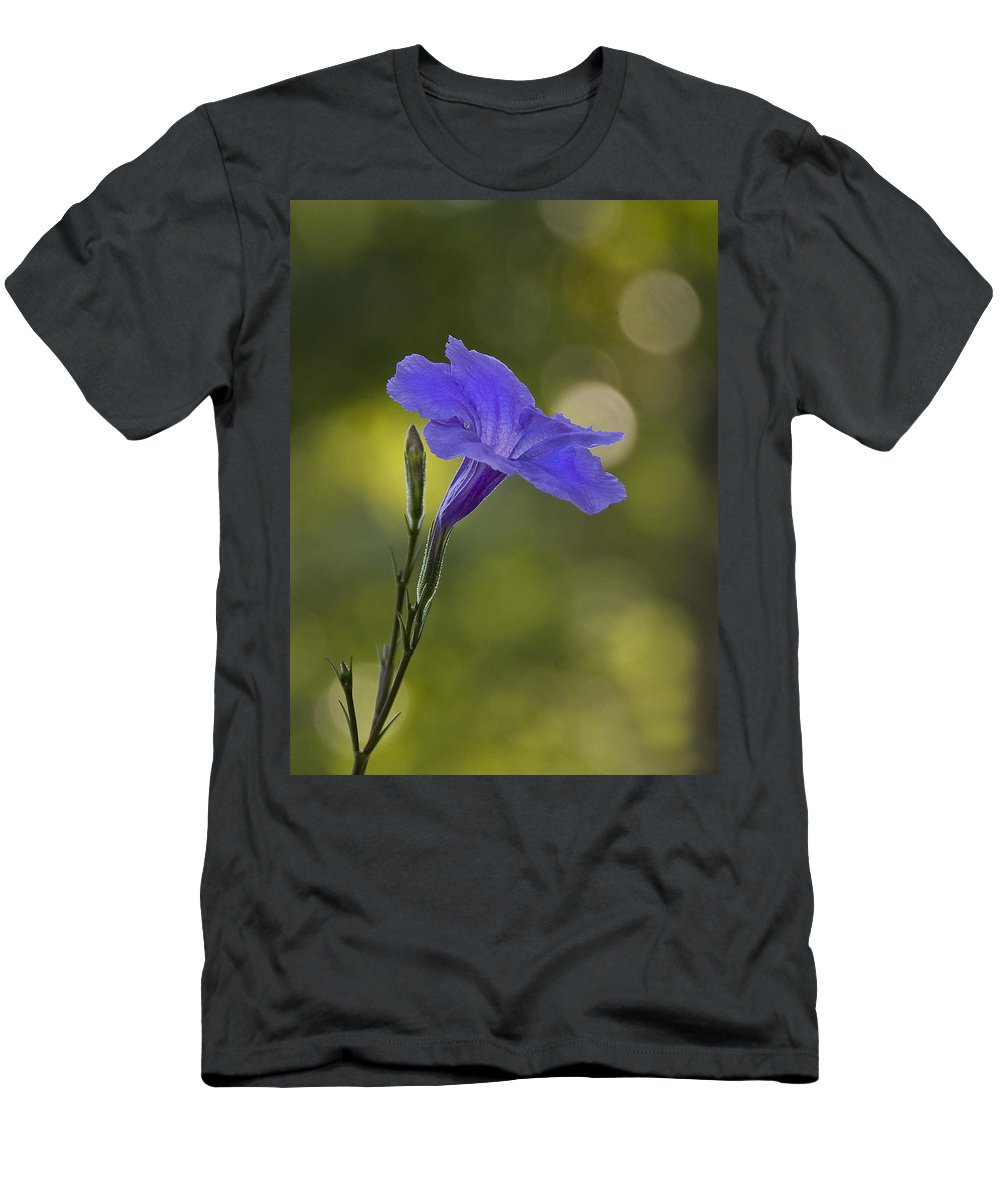 Mexican Petunia Men's T-Shirt (Athletic Fit) featuring the photograph Mexican Petunia by Steven Richardson