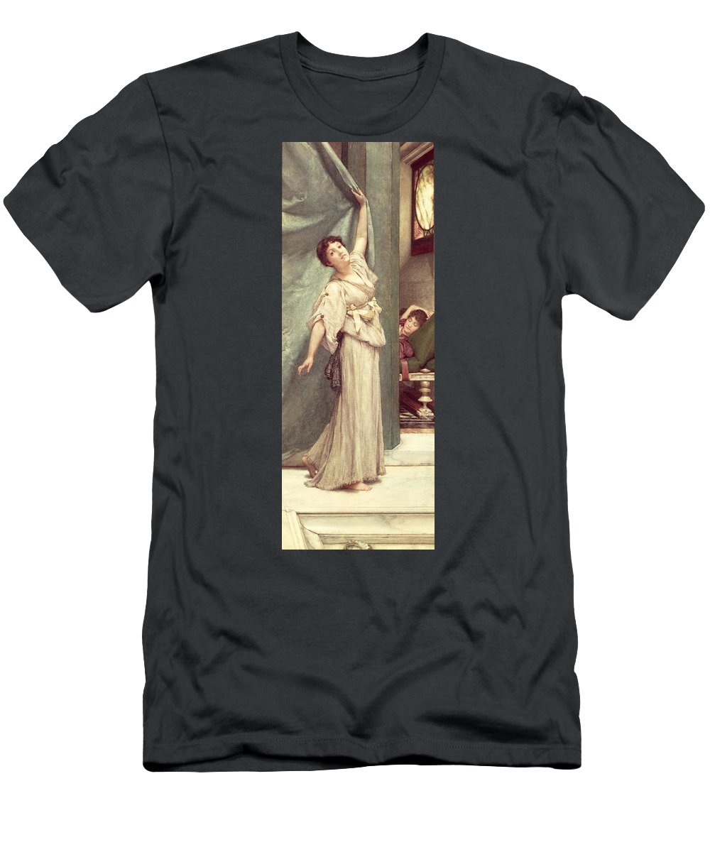 Midday Men's T-Shirt (Athletic Fit) featuring the painting Midday Slumbers by Sir Lawrence Alma-Tadema