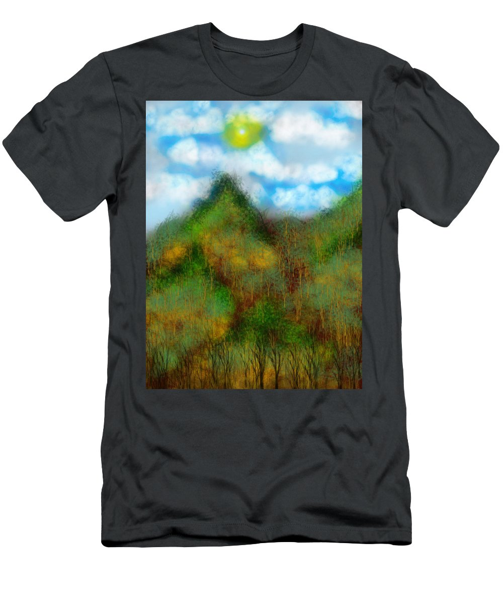 Men's T-Shirt (Athletic Fit) featuring the digital art Montain by Mathieu Lalonde