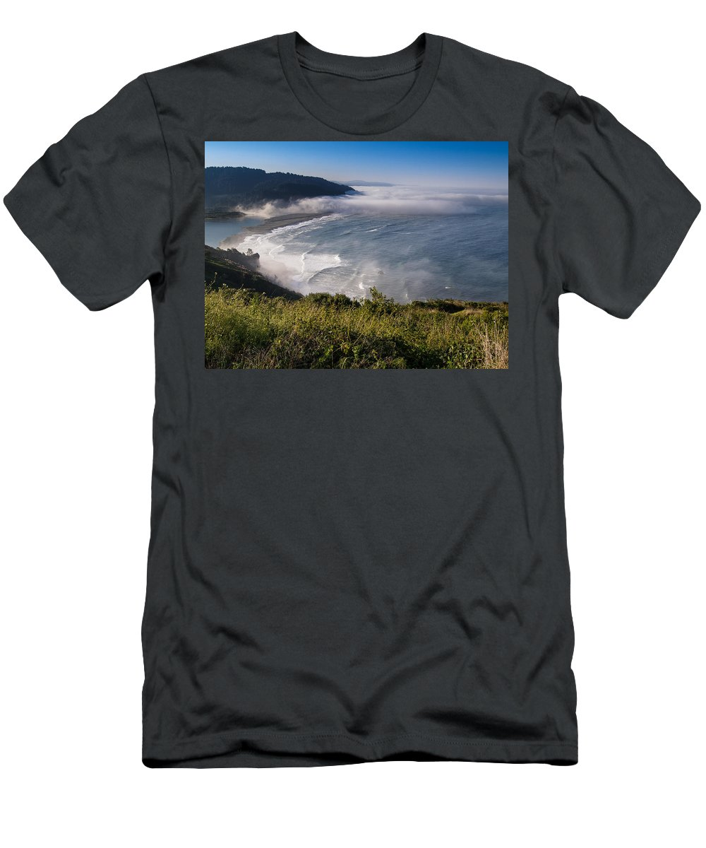 Klamath River Men's T-Shirt (Athletic Fit) featuring the photograph Morning At Klamath River Overlook by Greg Nyquist